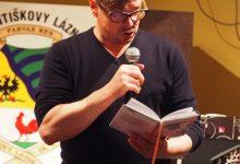 J. Rudiš čte ukázku z nové knihy, foto K. Polínková