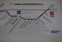 Trasa Oberpfalzbahn, foto K. Polínková