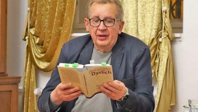 Praha 13. 1. 2020 -  B. Dyrlich čte ze své knihy (Foto M. Dyrlichowa)