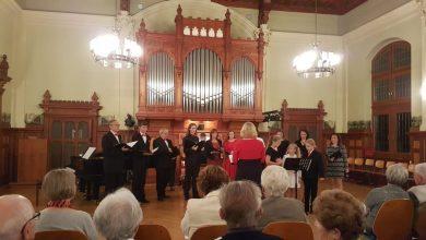 Kvíltet na koncertu v Budyšíně - aula Schillerova gymnázia